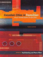 Canadian Cities in Transition: Local Through Global Perspectives, 3rd Edition